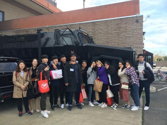 2019 Anyang visit to the Garden Grove Police Department