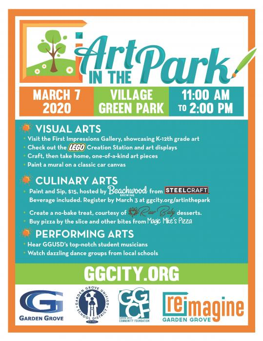 2020 Art in the Park Flyer
