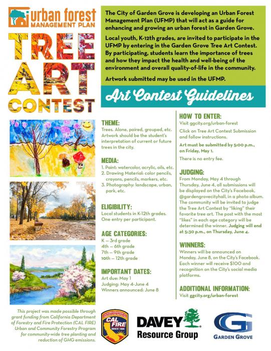 Tree Art Contest Flyer