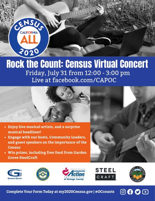 Rock the Count: Virtual Census Concert