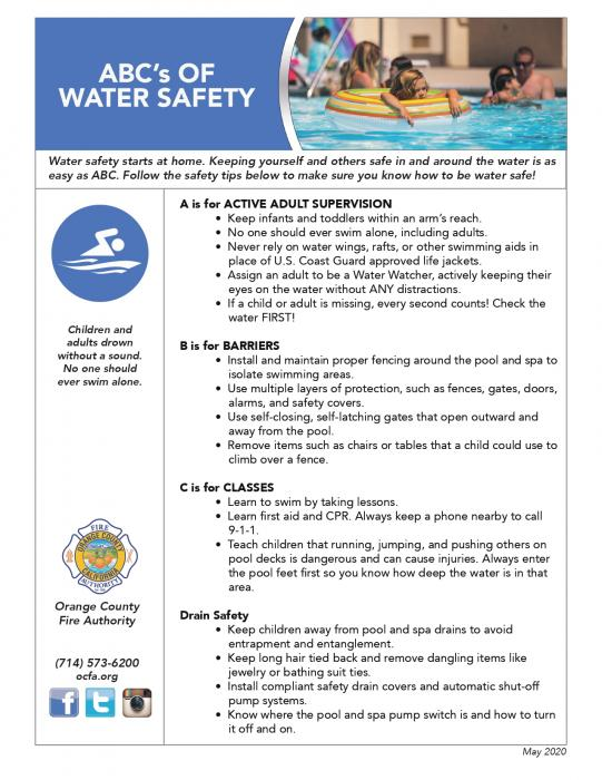 ABC Water Safety Flyer