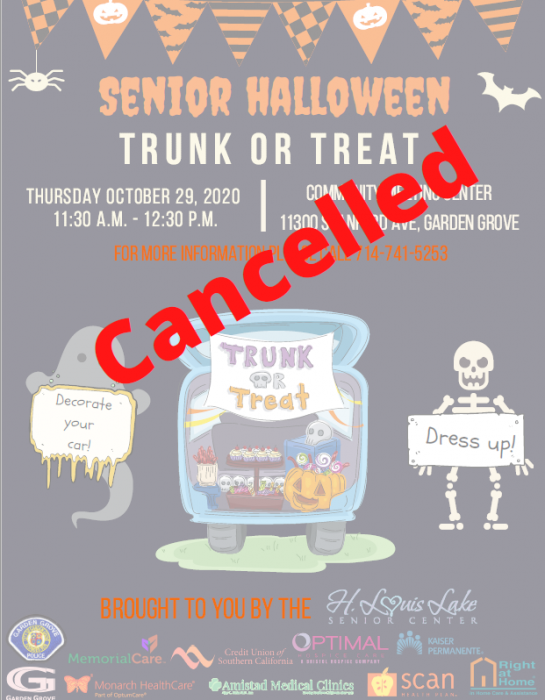 Trunk or Treat Cancellation Flyer