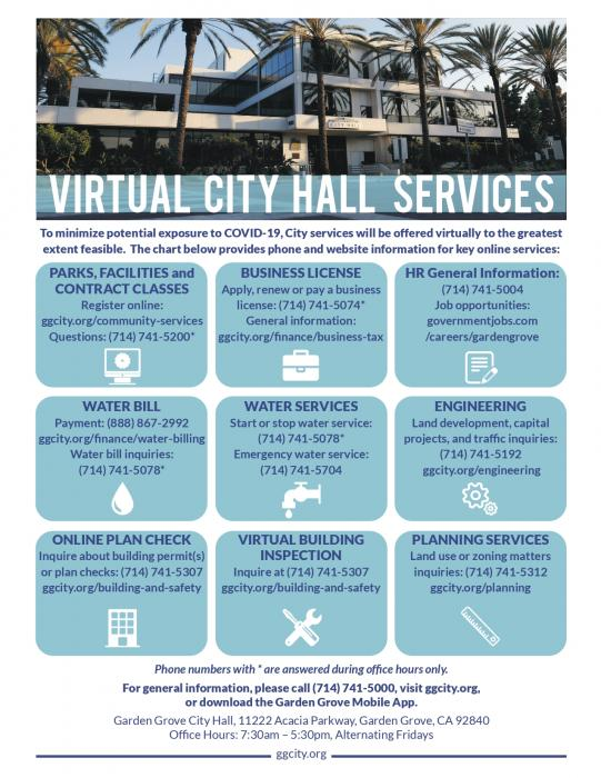 Virtual City Hall Services Flyer