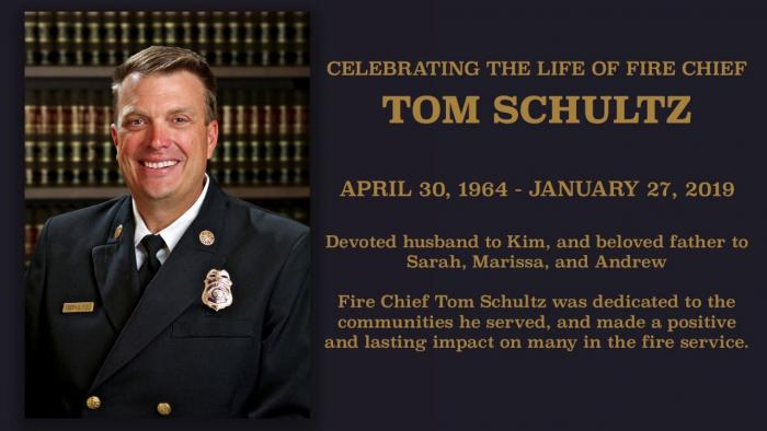 ​​​​​Memorial for Garden Grove Fire Chief Tom Schultz