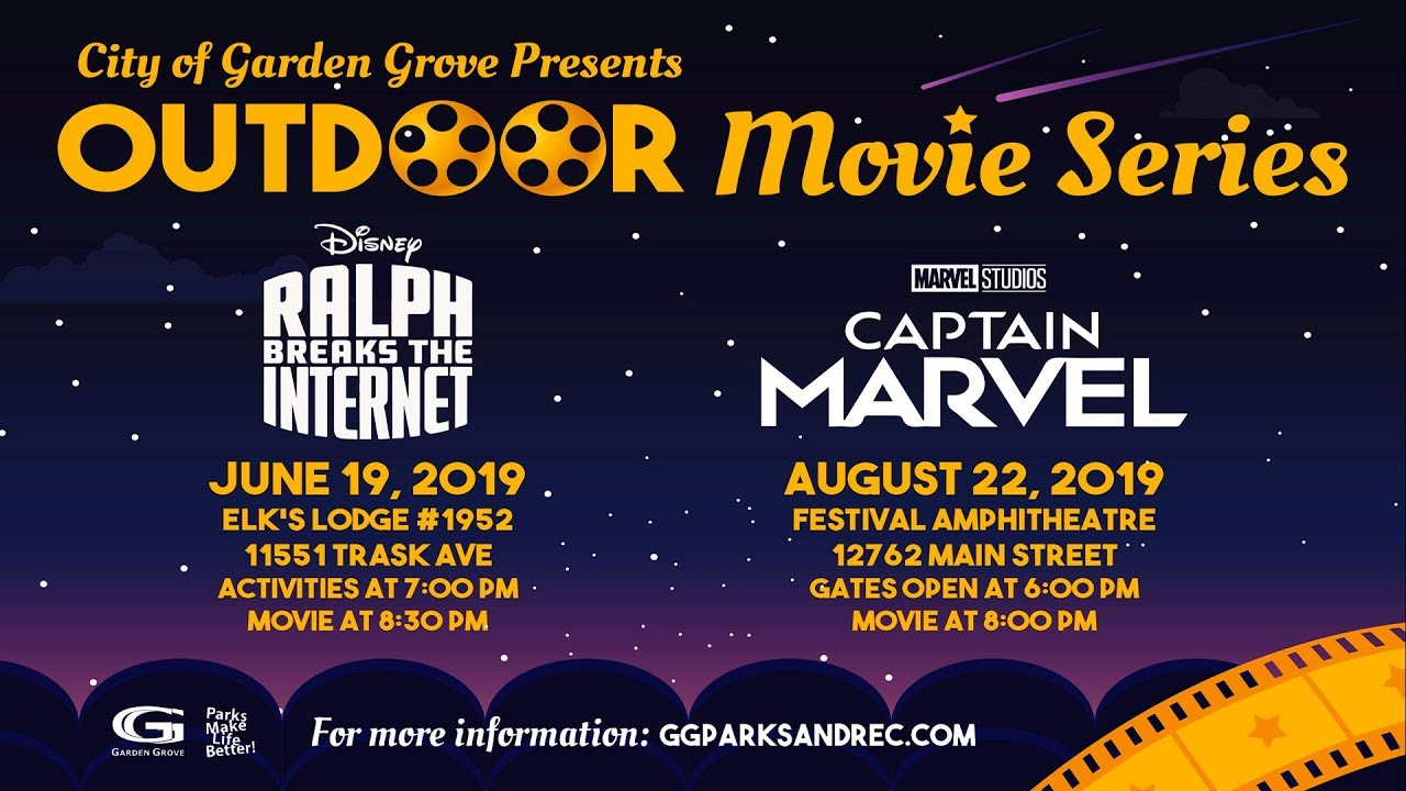 Free Summer Fun at Garden Grove's Outdoor Movie Series